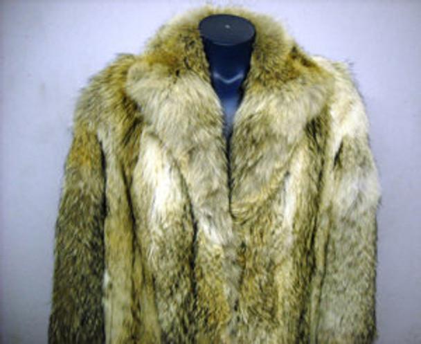 New Full Skin Mens Coyotte Fur Coat