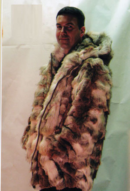 Coyotte Mens Bomber Hooded Fur Jacket 1