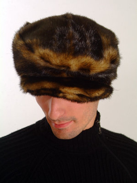 Brown Faux Fur Men's Cap Style
