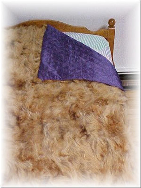 Sectional Dyed Raccoon Fur Blanket