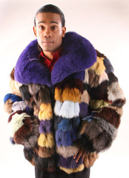 Multicolor Fox Sectional Jacket and Fullsking Collar