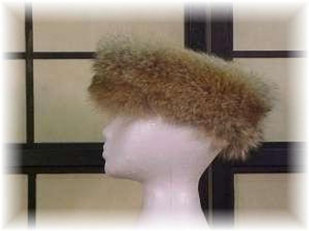 Full Skin Coyote Fur Head Wrap 1
