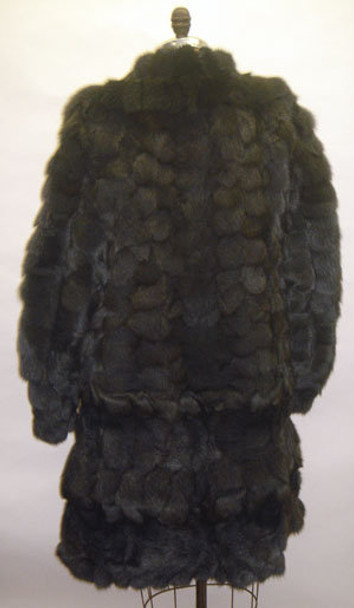 Gray Fox 3/4 Fur Jacket with Flare Style
