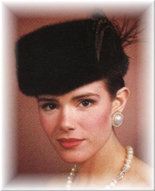 Dresa Fur Hat with Feather Trim