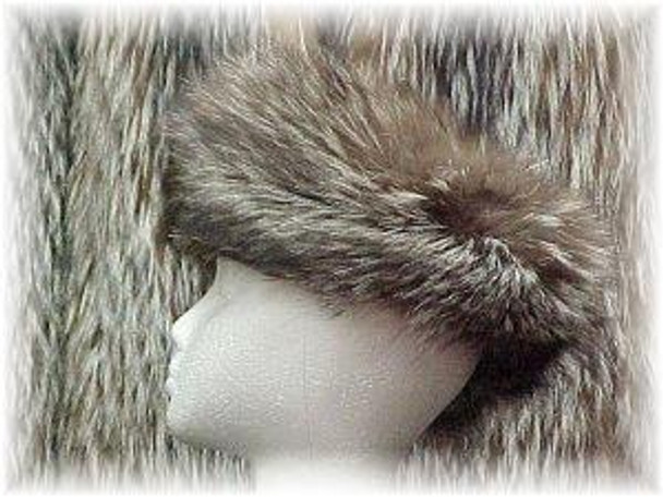 Full Skin Silver Fox Fur Headwrap 1