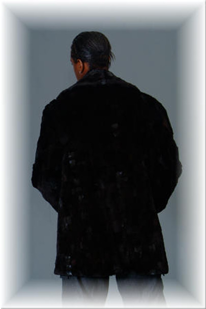 3/4 Mink Fur Jacket w/ Notch Collar 5