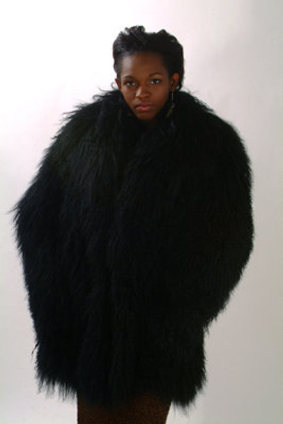 Curly Lamb Fur Jacket