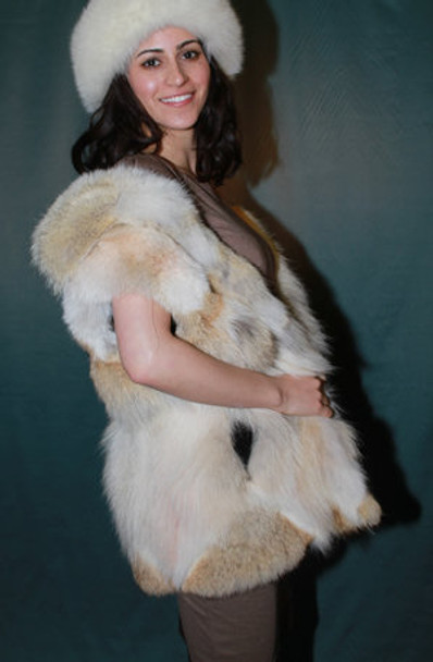 Coyote Fur Design Vest