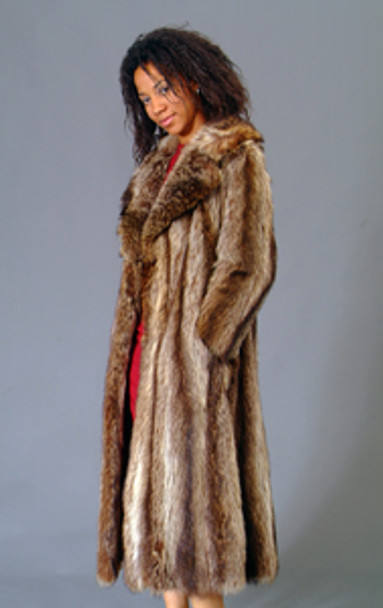 Vintage Fur Raccoon Full Skin Coat