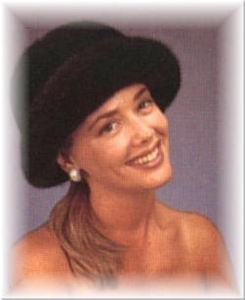 Soft Mink Double Fur Brim Hat