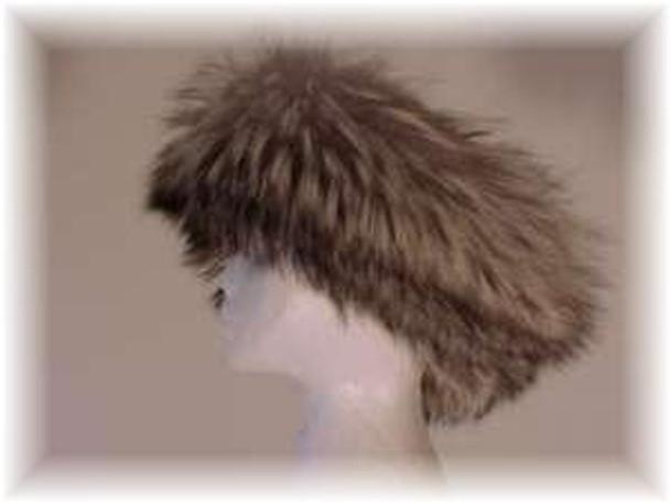 Full Skin Cross Fox Fur Head Wrap 3