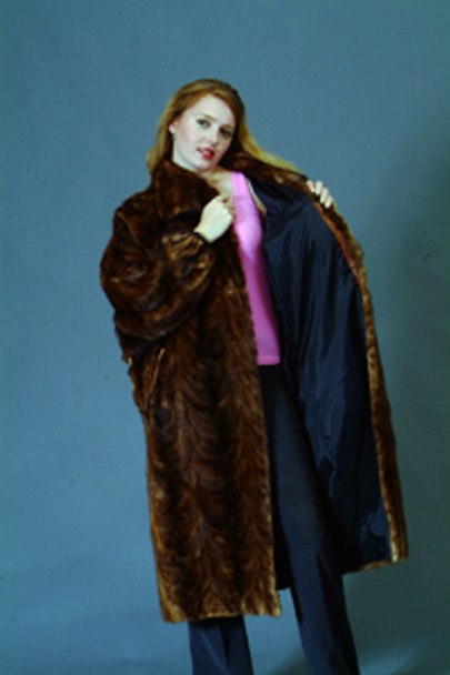 Vintage Fur Mink Sectional Long Coat