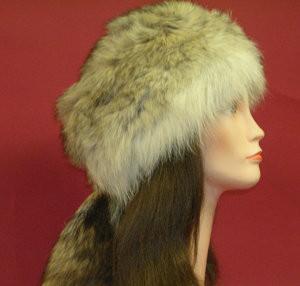 330f0e6badd Coyote Full skin Daniel Boone Hat - furoutlet - fur coat