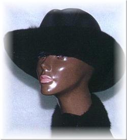 fffb0724a3c15 Mink Cowboy Fur Hat with Leather Crown - furoutlet - fur coat