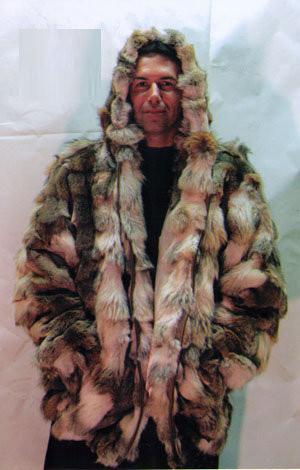 2a7d737d828 Coyotte Mens Bomber Hooded Fur Jacket 1 - furoutlet - fur coat