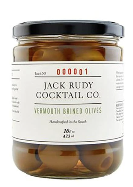 Jack Rudy Olives, Vermouth brined