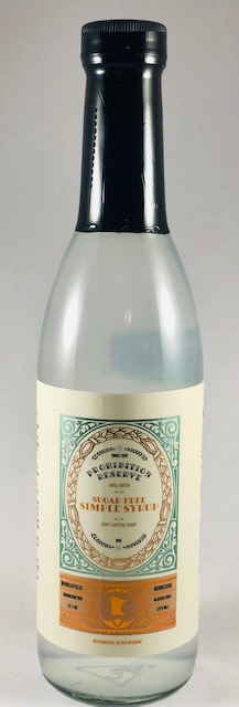 Prohibition Reserve Sugar Free Simple Syrup