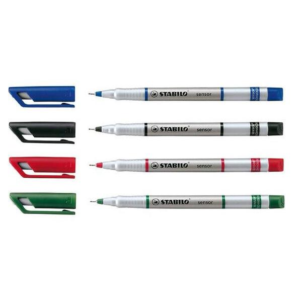 STABILO Sensor Fineliner Green Box10 0195952