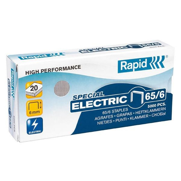 Rapid Staples 65/6mm Box5000 Strong 0198489