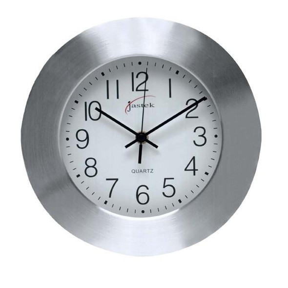 Carven Clock 250mm Aluminum 0268240