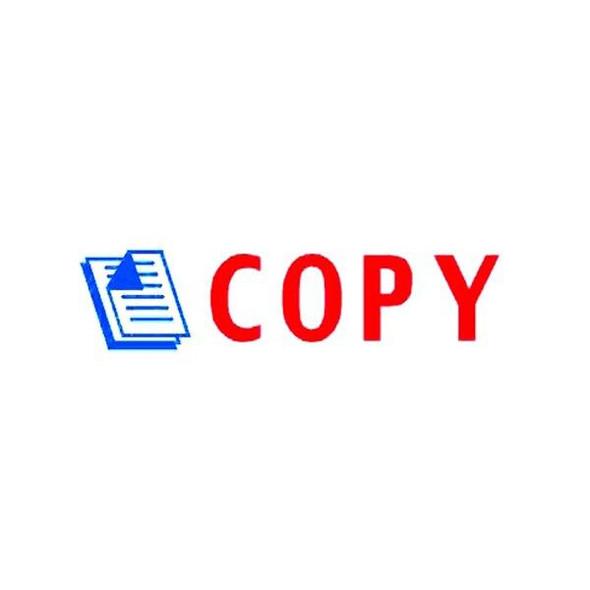 Deskmate Pre-Inked Office Stamp Copy Blue/Red 0273660
