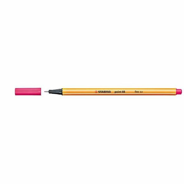 STABILO Point 88 Fineliner Pink Box10 0342680