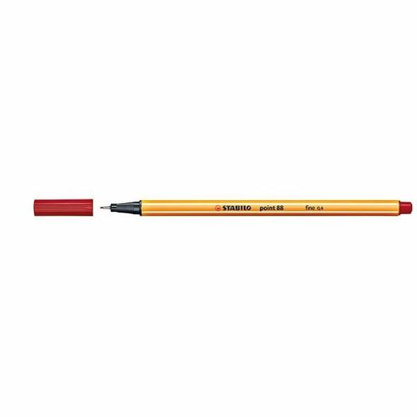 STABILO Point 88 Fineliner Crimson Box10 0342690
