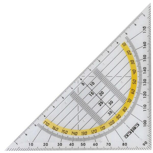 Celco 2 In 1 Set Square and Protractor 0347580