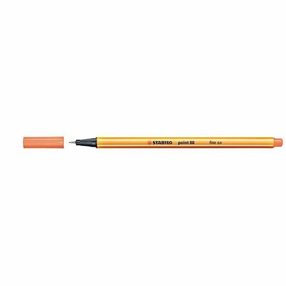 STABILO Point 88 Fineliner Apricot BOX10 0350560