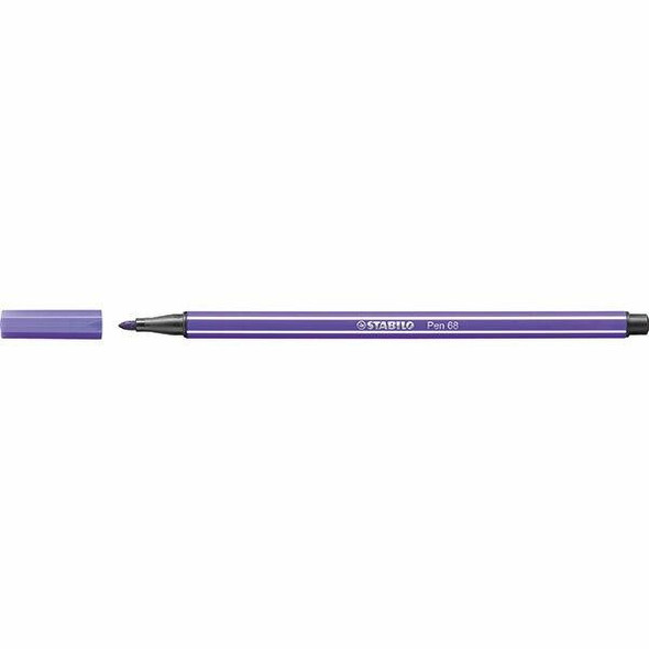 STABILO Pen 68 Fibre Tip Violet BOX10 0350960