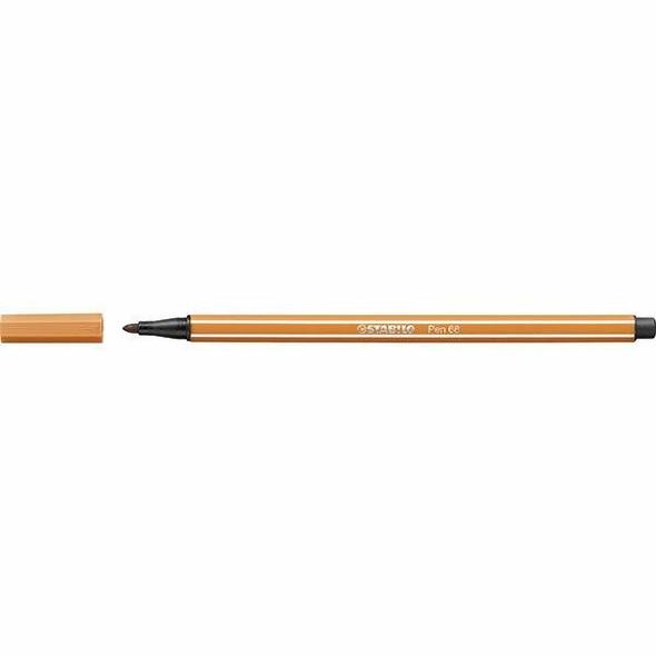 STABILO Pen 68 Fibre Tip Dark Ochre BOX10 0351000
