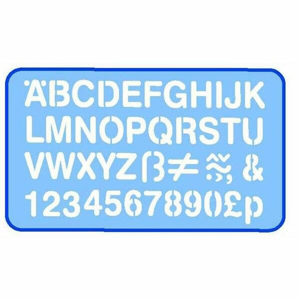 Helix Lettering Stencil 20mm 0352760