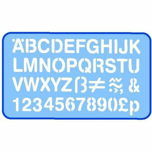 Helix Lettering Stencil 30mm 0352790