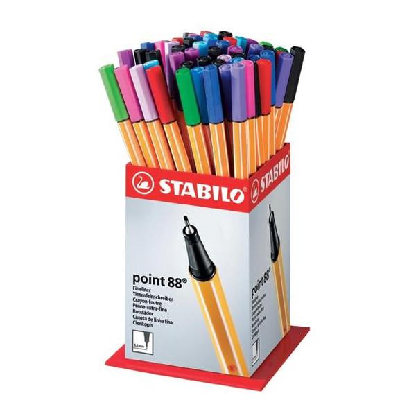 STABILO Point 88 Fineliner Mini Display 60pc 0361900