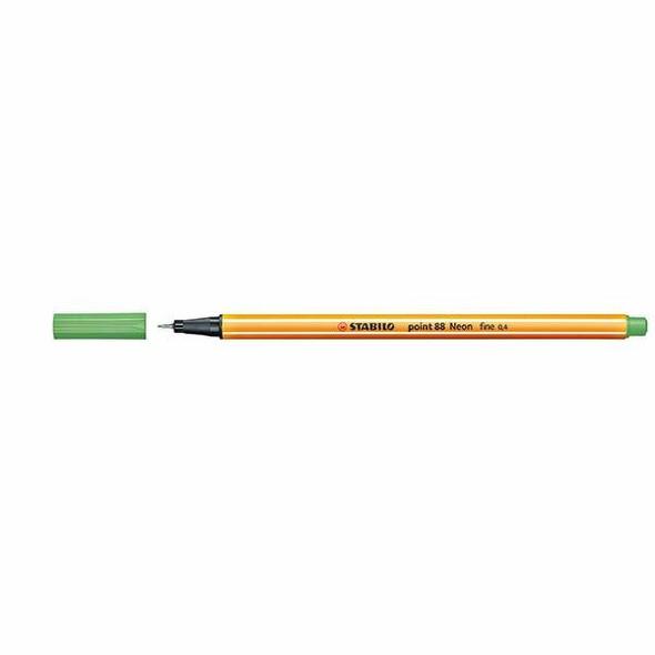 STABILO Point 88 Fineliner Neon Green Box10 0397012