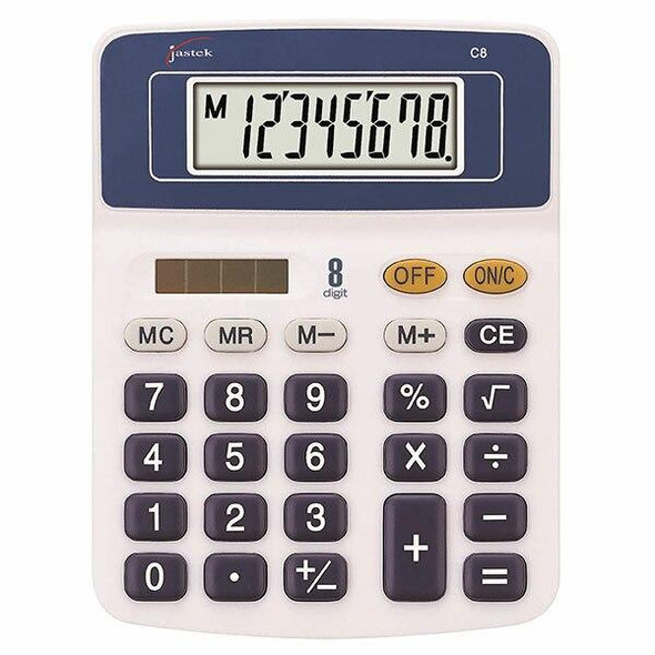 Jastek Compact Calculator Blue X CARTON of 6 0398420