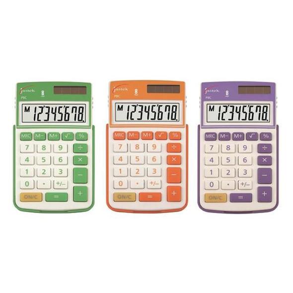 Jastek Pocket Calculator Assorted Colours X CARTON of 6 0398440