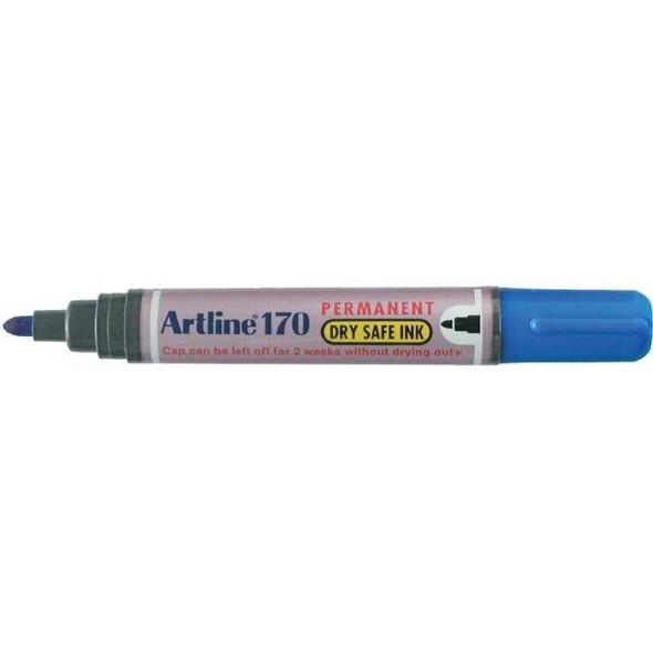 Artline 170 Permanent Marker 2mm Bullet Nib Blue BOX12 101703