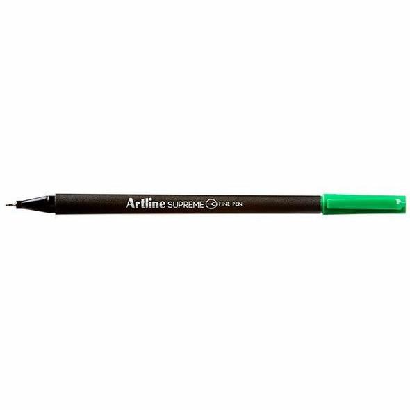 Artline Supreme Fineliner Pen 0.4mm Green BOX12 102104