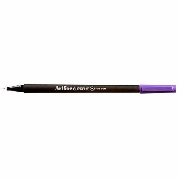 Artline Supreme Fineliner Pen 0.4mm Purple BOX12 102106