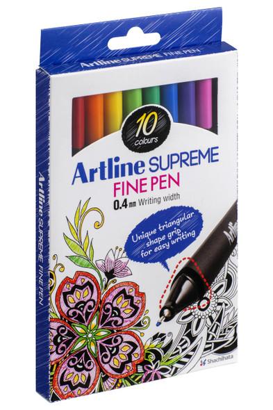 Artline Supreme Fineliner Assorted X CARTON of 12 102110