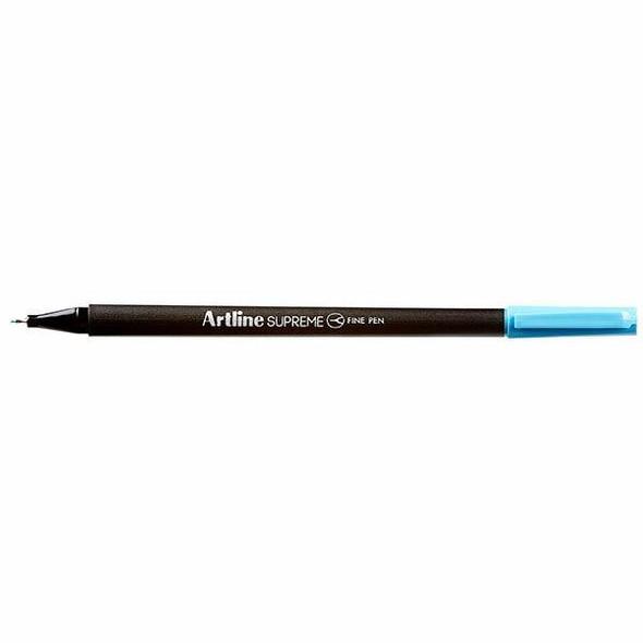 Artline Supreme Fineliner Pen 0.4mm Light Blue BOX12 102113