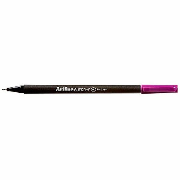 Artline Supreme Fineliner Pen 0.4mm Magenta BOX12 102116