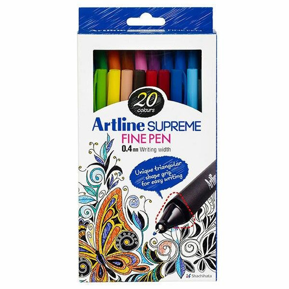 Artline Supreme Fineliner Assorted X CARTON of 12 102122