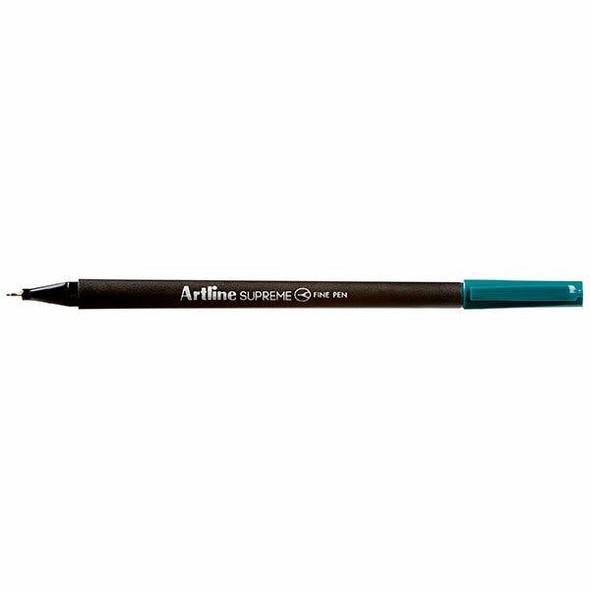 Artline Supreme Fineliner Pen 0.4mm Dark Green BOX12 102134
