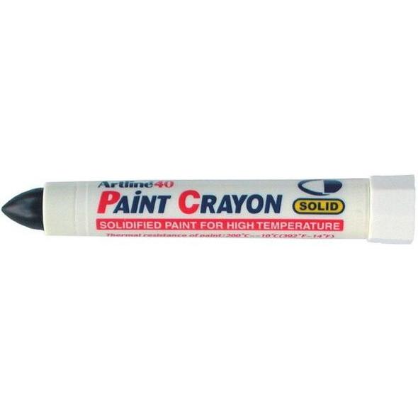 Artline 40 Permanent Paint Crayon Black BOX12 104001