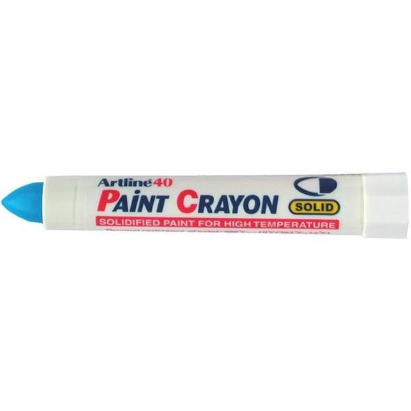 Artline 40 Permanent Paint Crayon Blue BOX12 104003