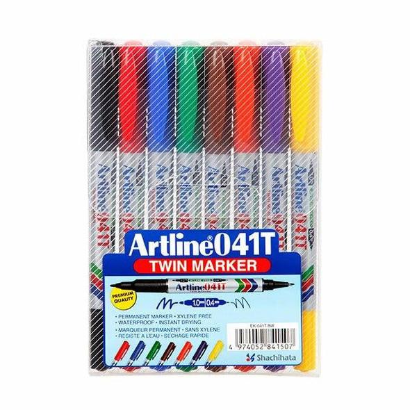 Artline 041t Permanent Dual Nib Marker Wallet8 104148