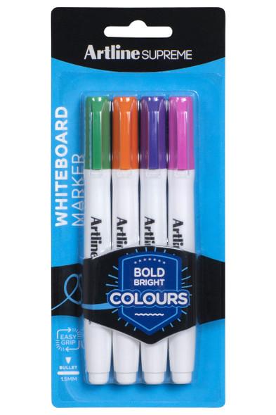 Artline Supreme Whiteboard Marker Brights 4Pack X CARTON of 6 105175