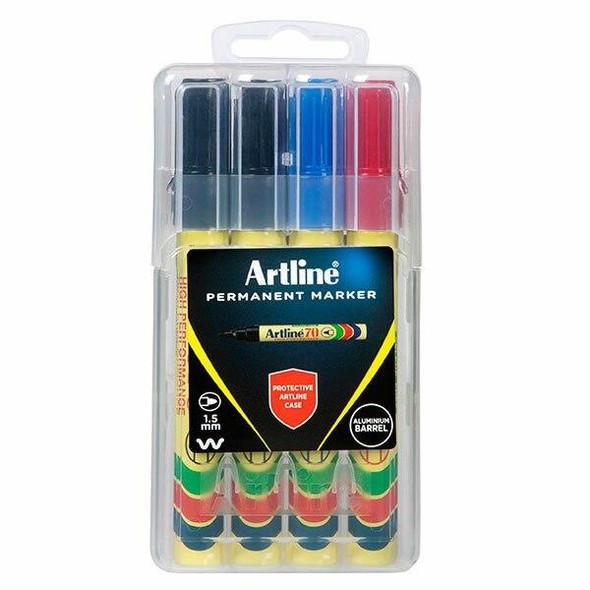 Artline 70 Permanent Marker Assorted X CARTON of 6 107076HC
